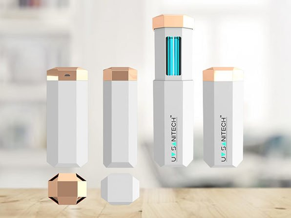 This portable UV-C wand sterilizes your items and work space