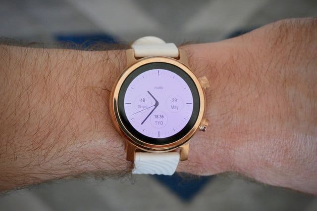 Moto 360 White watch face