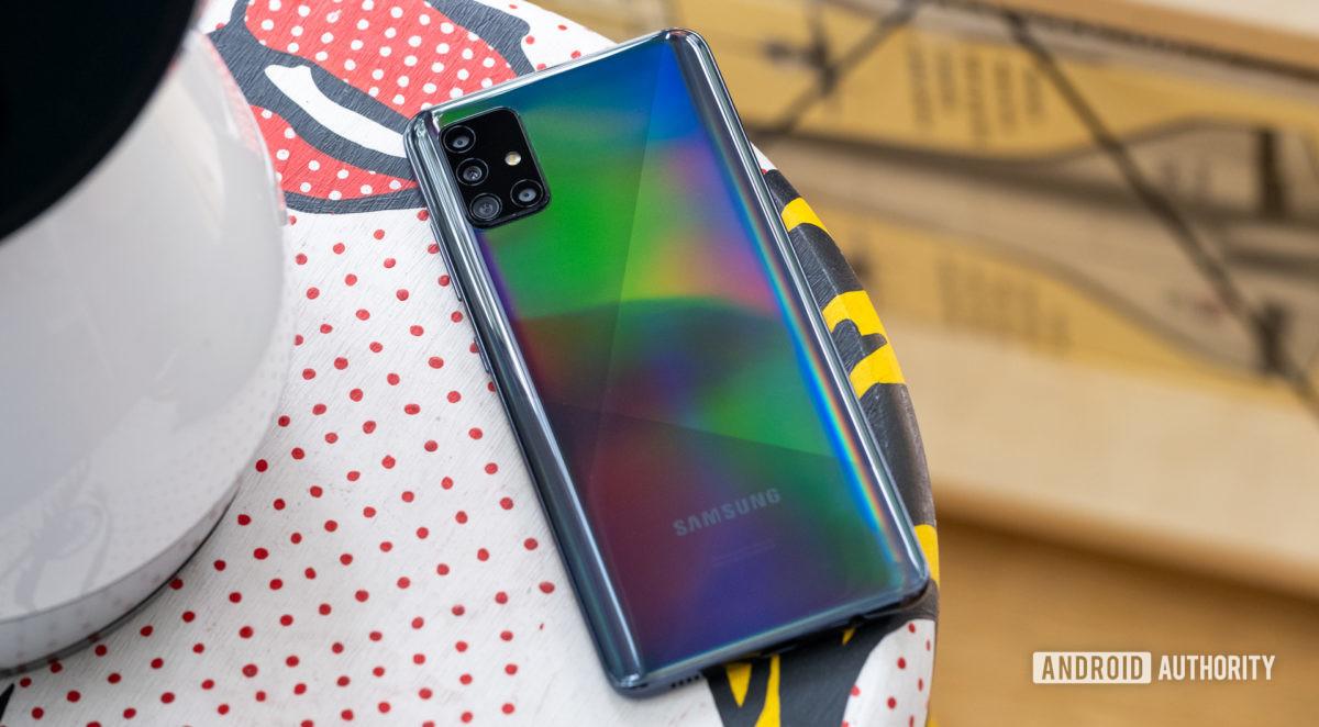 Samsung Galaxy A51 back face down