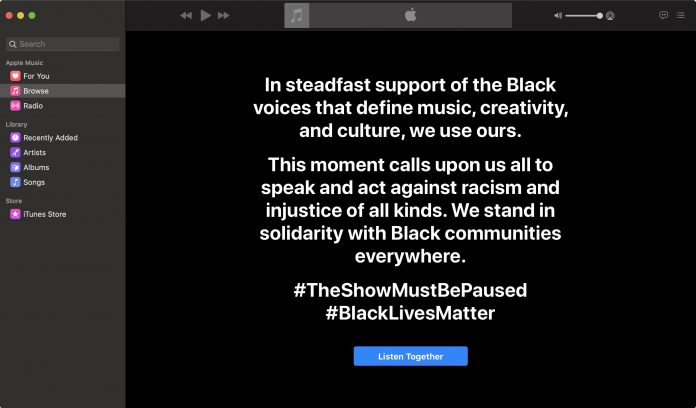 Apple Music Joins Music Industry's Black Out Tuesday Awareness Campaign