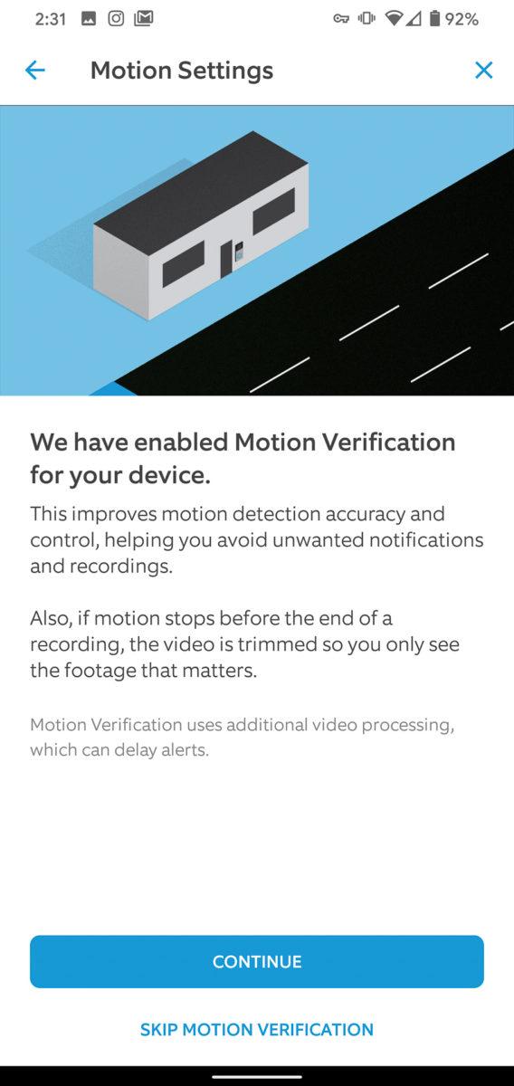 Ring Video Doorbell 3 Plus app motion 3