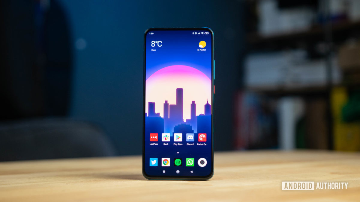 Poco F2 Pro Display with the home screen