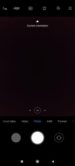Poco F2 Pro camera app main screen