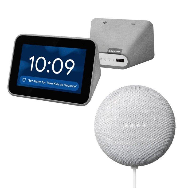 google-nest-mini-lenovo-smart-clock-bund