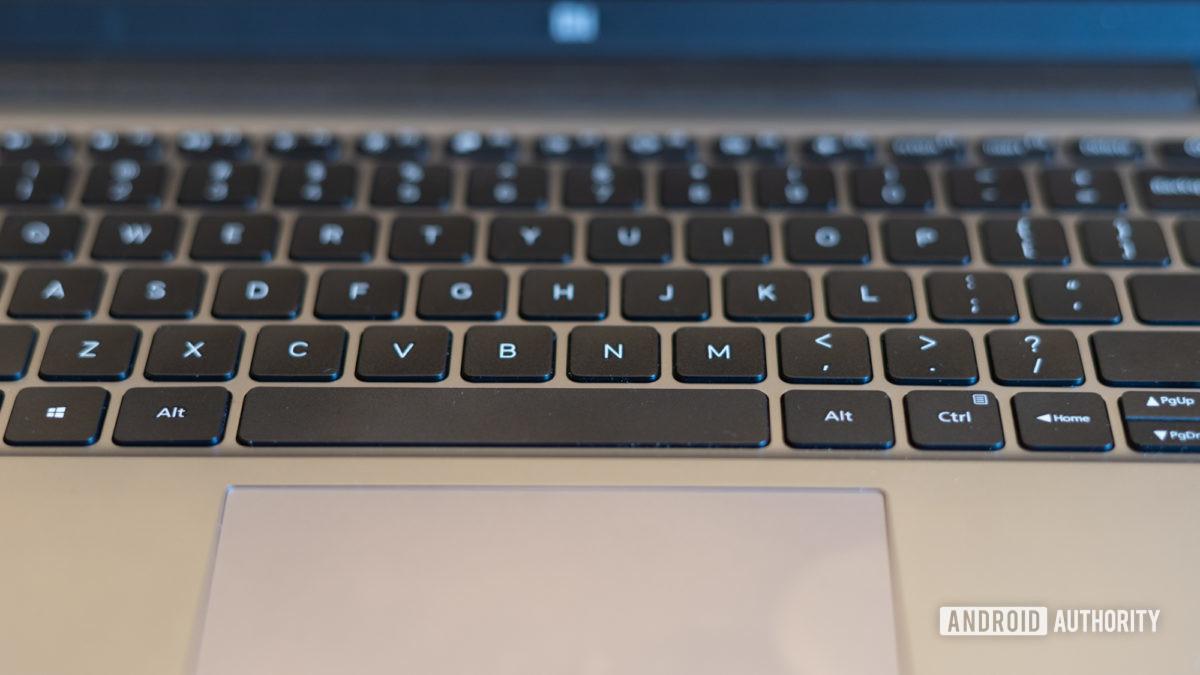 MI Notebook 14 Horizon showing keyboard and trackpad