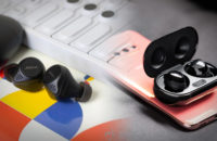 A blended image of the Samsung Galaxy Buds Plus vs Jabra Elite 75t true wireless earbuds.