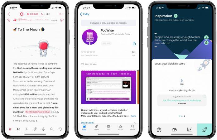 App Recap: Noted, PodWise, Sidekick and Major App Updates