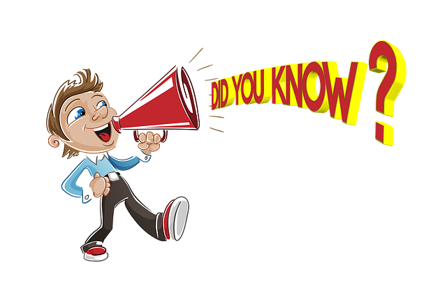 """A drawing of a man speaking """"Do you know?"""" to the megaphone, symbolizing efficient ways to promote your business locally."""