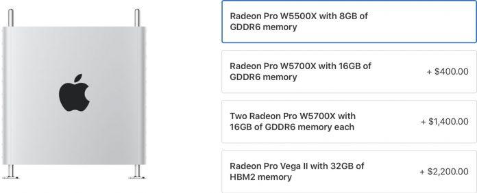 Apple Now Offering Radeon Pro W5500X for Mac Pro