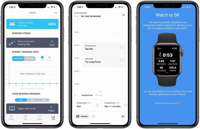 App Recap: Bookly, Sepnia, Watch to 5K and Major App Updates