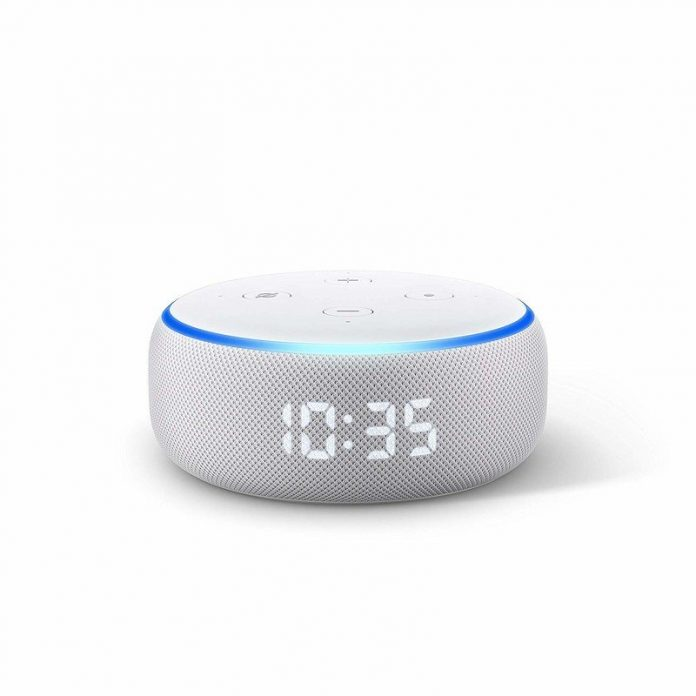 Save 50% on the Amazon Echo Dot with Clock today only in the UK
