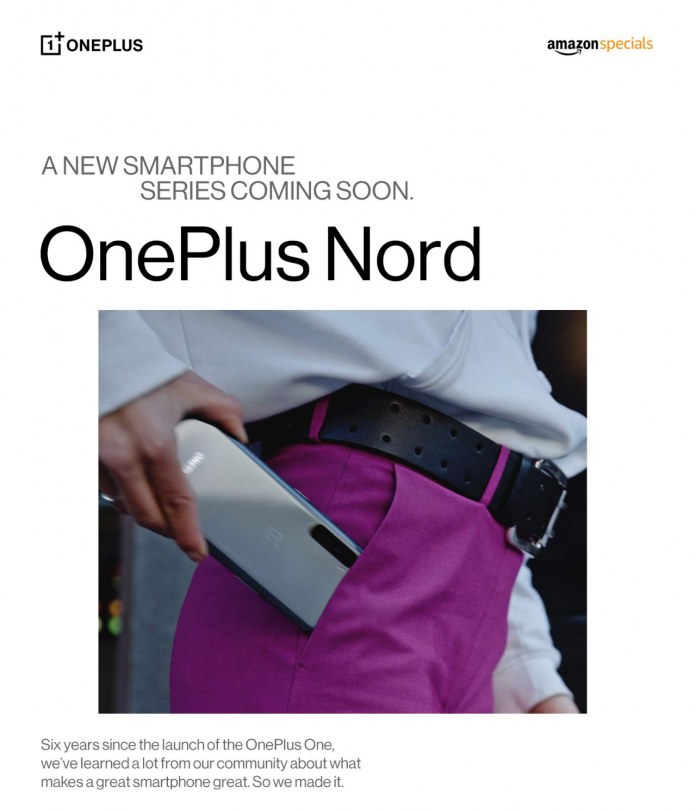OnePlus Nord confirmed by OnePlus, will launch July 21