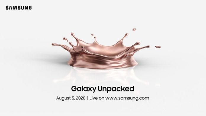Samsung will unveil the Galaxy Note 20 on Aug 5 at virtual Unpacked event