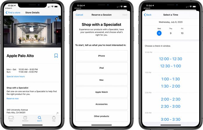 Apple Stores Now Offering 'Shop With a Specialist' Appointments
