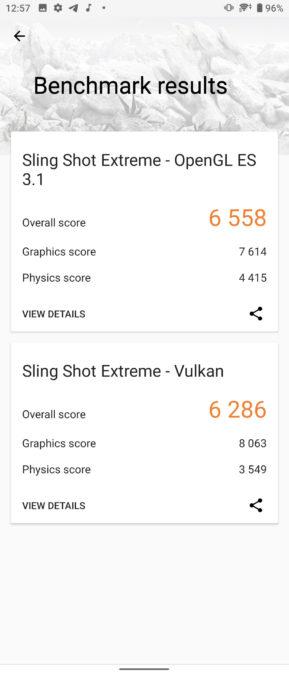 Sony Xperia 1 II 3DMark score