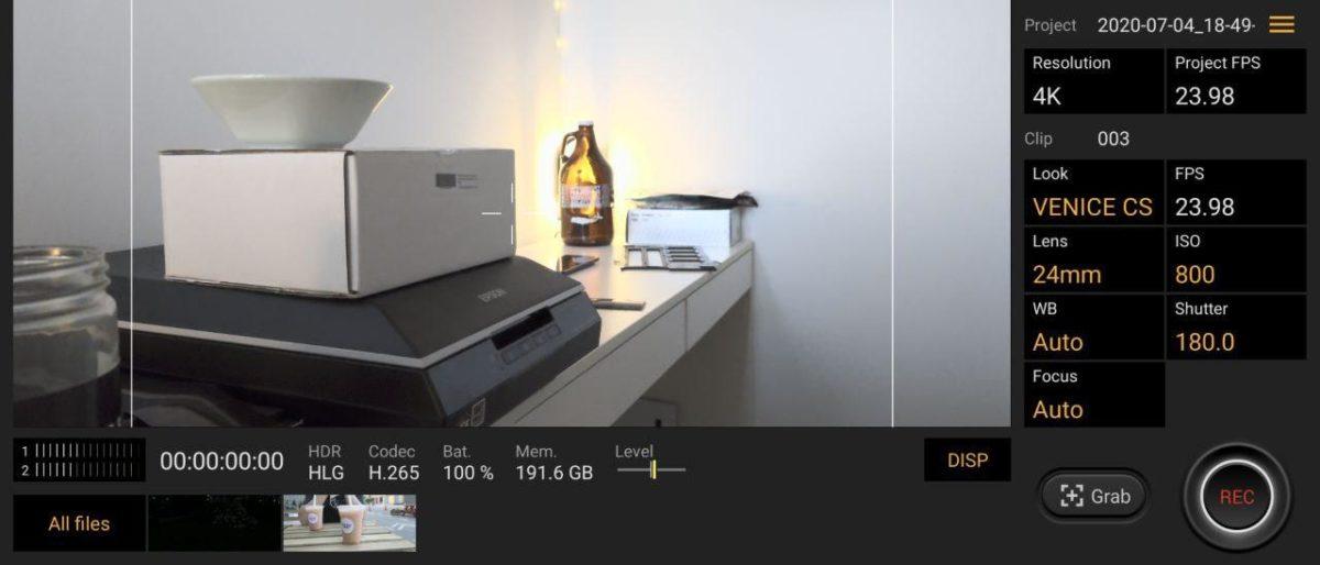 Sony Xperia 1 II cinema pro app