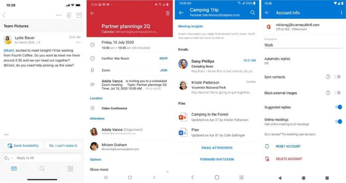 Microsoft upgrades its Outlook apps for improved after-hours working