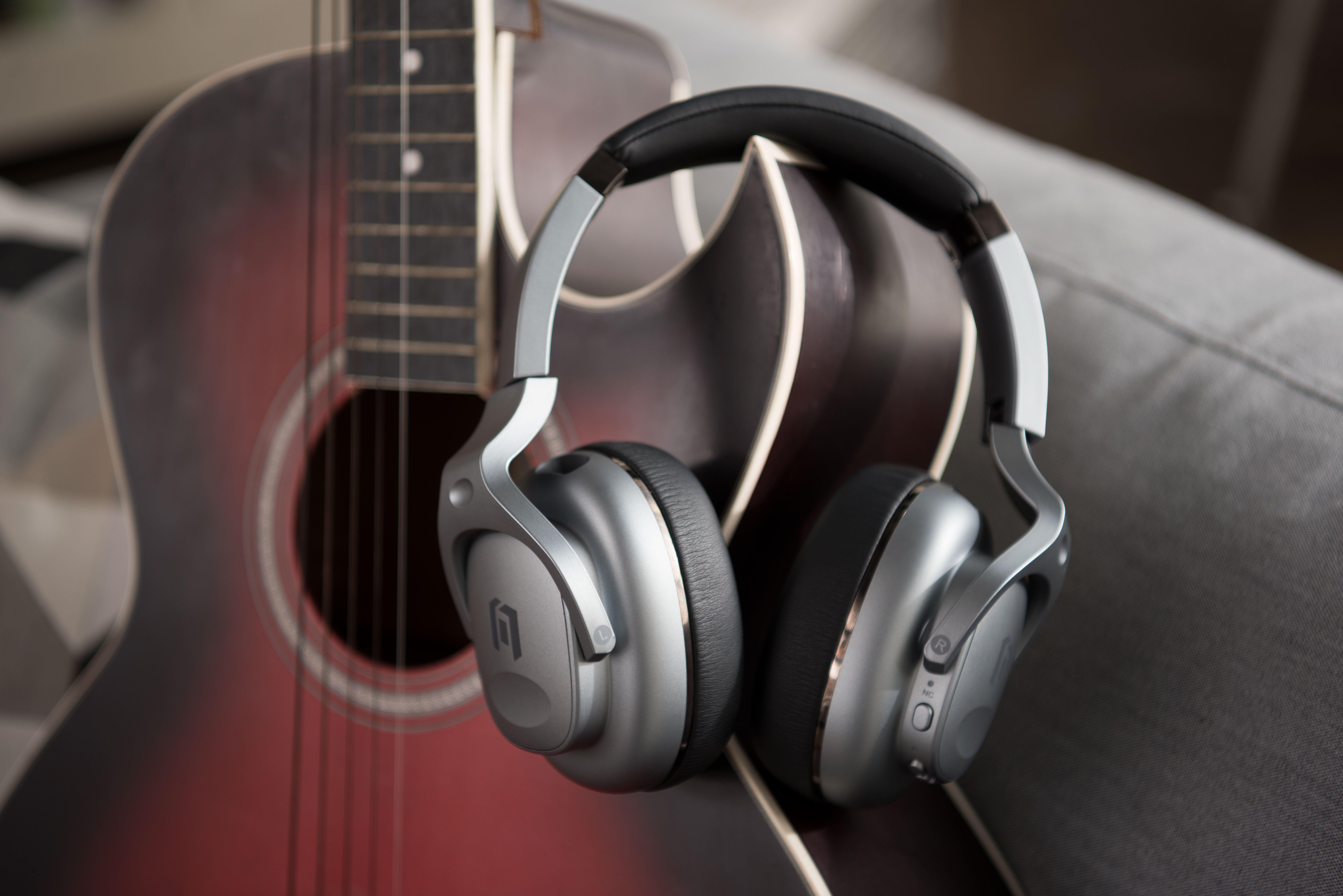 Mobvoi TicKasa ANC Headphones on Guitar