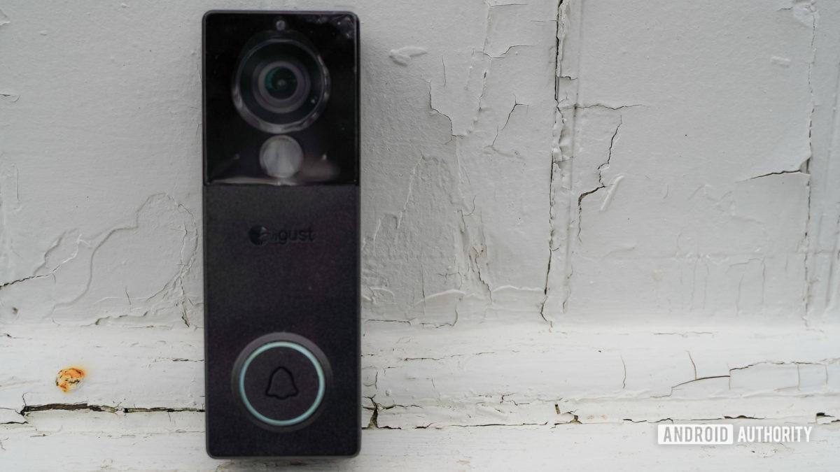 August View video doorbell standing