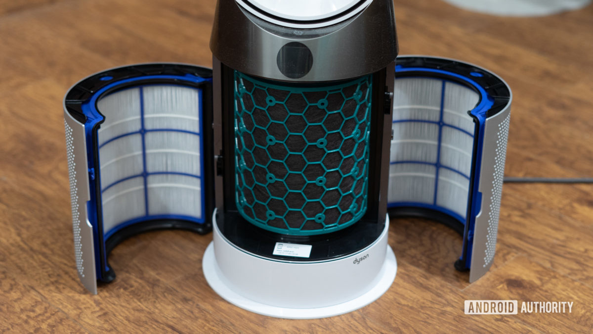 Dyson Pure Hot and Cool Air Purifier filters exposed