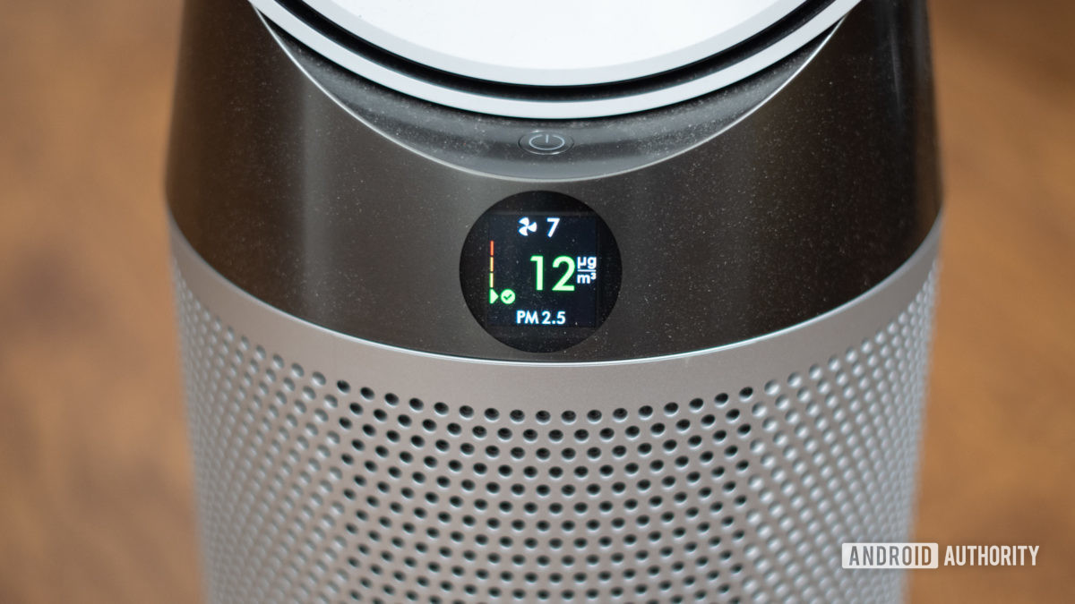 Dyson Pure Hot and Cool Air Purifier digital readout