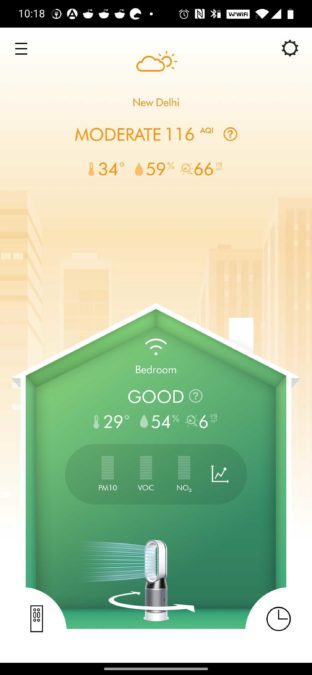 Dyson Link room air quality