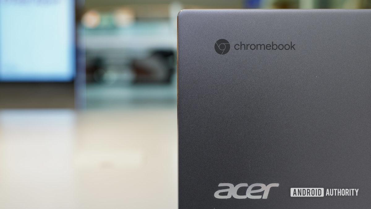 Acer Chromebook Spin 713 branding
