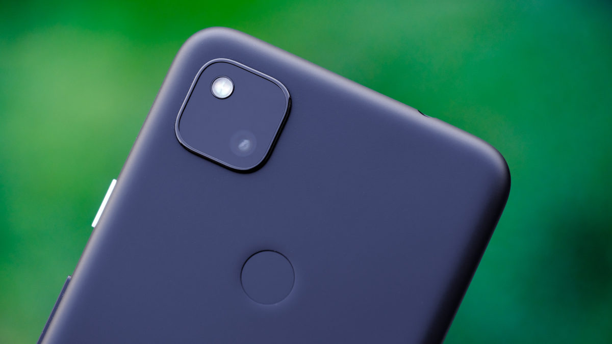 Google Pixel 4a back camera and fingerprint macro