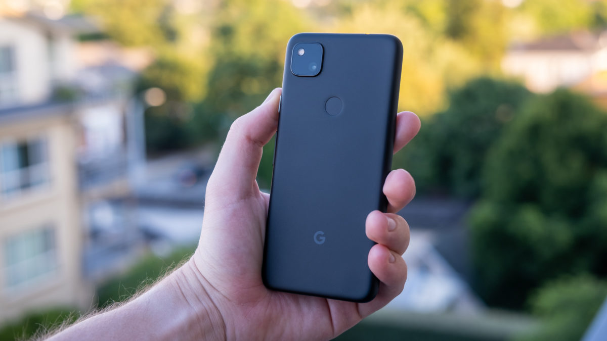 Google Pixel 4a back in hand 5
