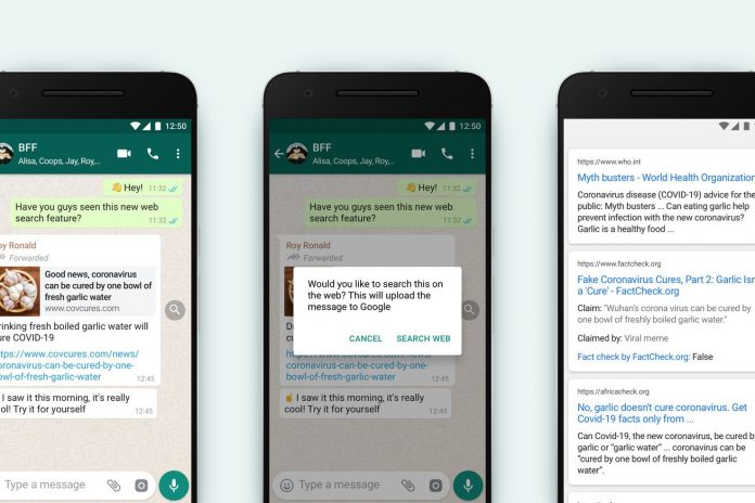 WhatsApp Users Can Now Fact-Check Forwarded Messages for Misinformation