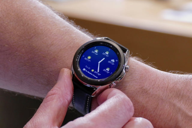 samsung galaxy watch 3 hands on features price photos release date weather app