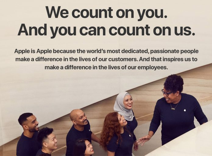 Apple Adds New 'Benefits' Section to Jobs Site