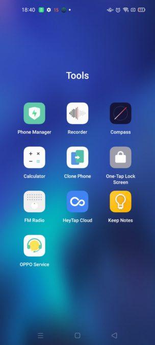 Oppo Reno 4 Pro preloaded apps