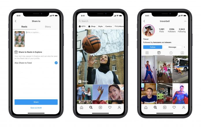 Instagram debuts Reels – a new (and familiar) way to create content