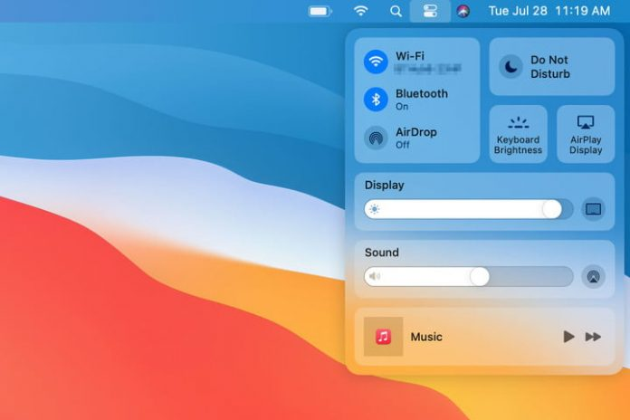 How to use Control Center in MacOS Big Sur