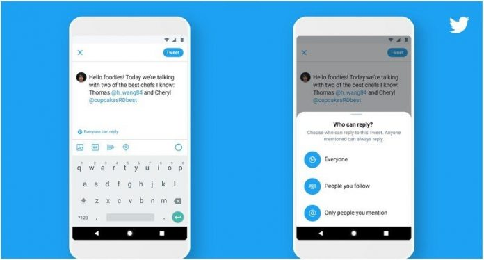 Twitter's reply-limiting feature is now available for all