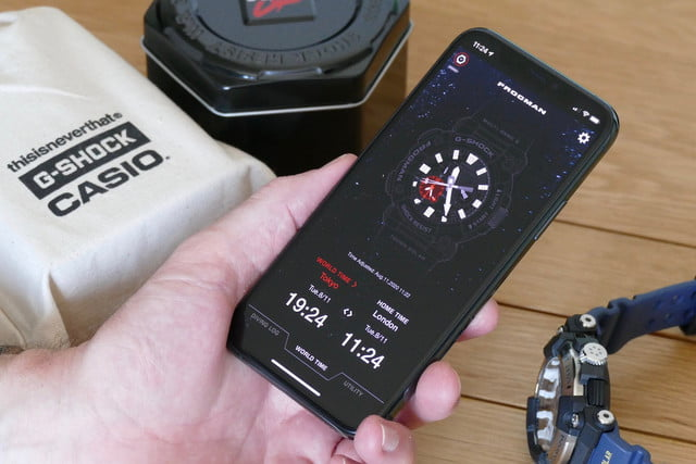 casio g shock gwf a1000 frogman review app time