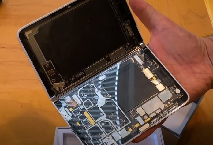 See the magic inside Microsoft Surface Duo in this video