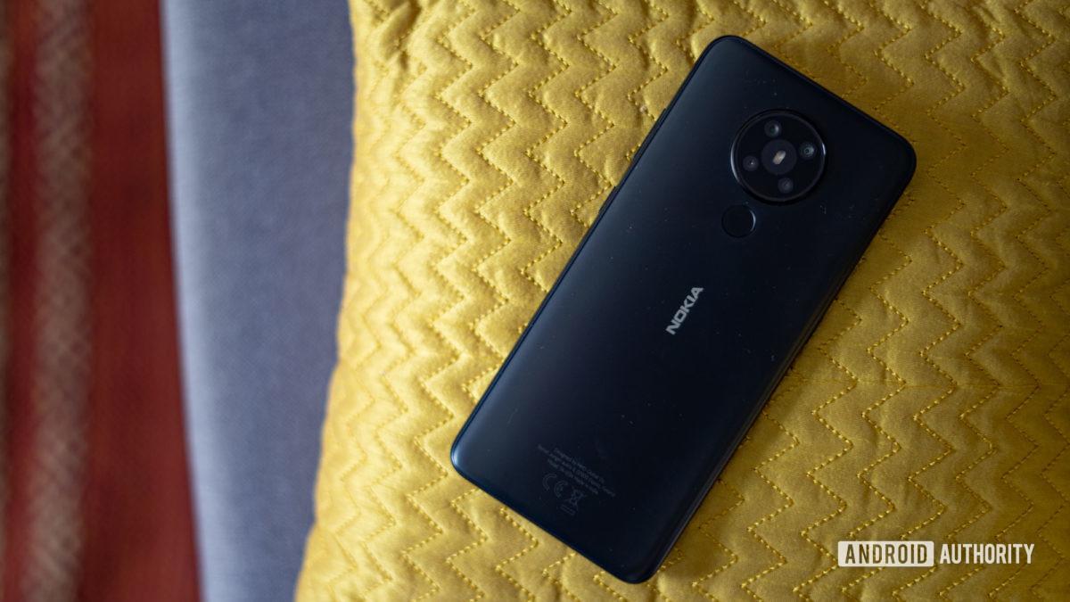 Nokia 5.3 rear profile shot