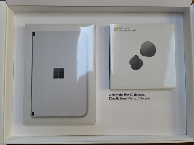 surface duo unboxing first impressions  inside reviewer kit