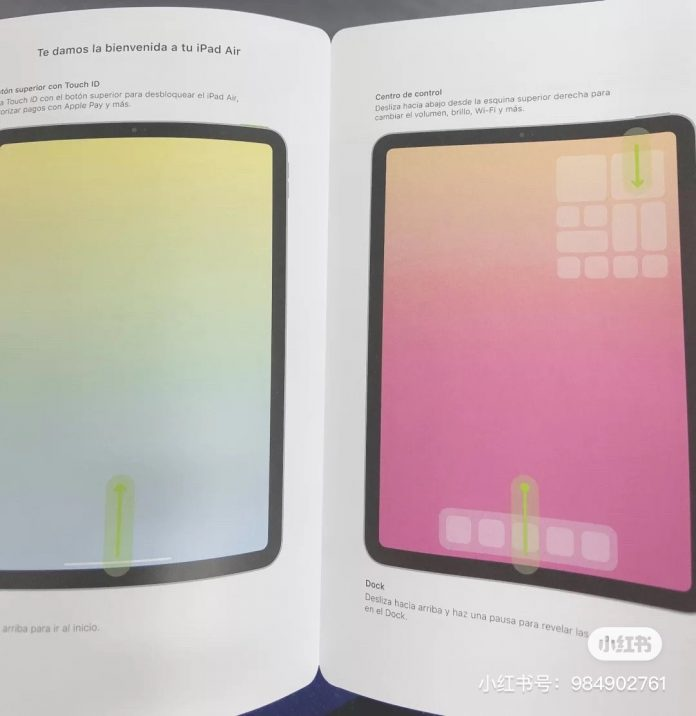 Alleged iPad Air 4 Manual Depicts All-Screen Display With Touch ID Built into Power Button