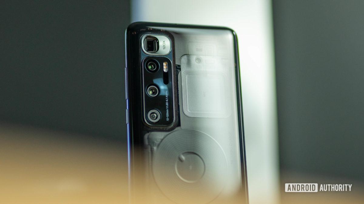 Xiaomi Mi 10 Ultra Camera housing hidden