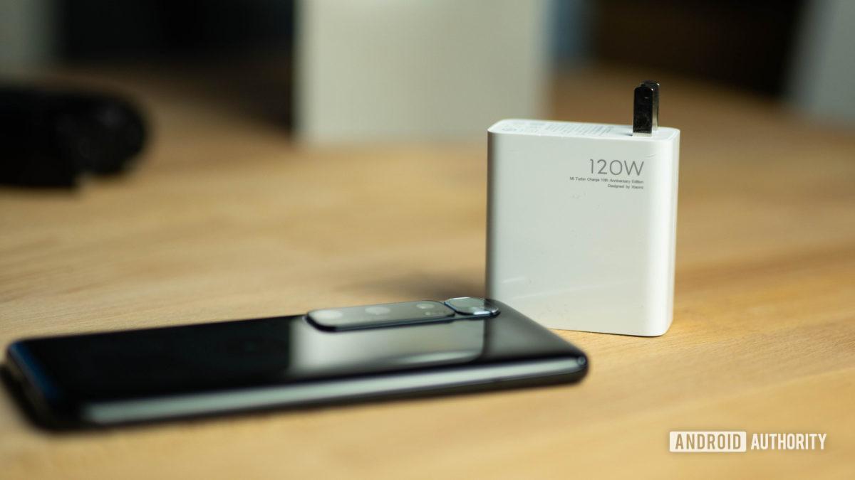 Xiaomi Mi 10 Ultra with 120w charging brick