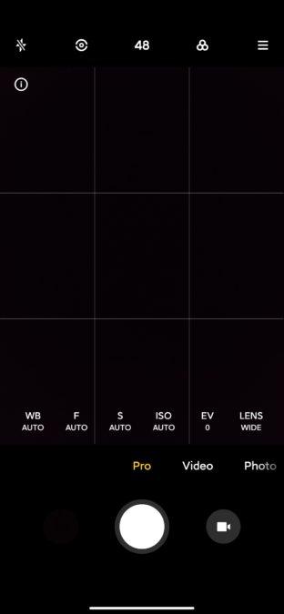 Xiaomi Mi 10 Ultra camera app pro mode