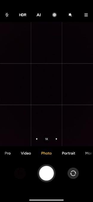 Xiaomi Mi 10 Ultra camera app photo mode
