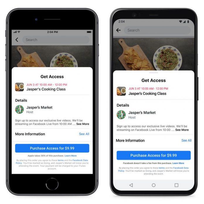 Apple Blocked Facebook Update Highlighting Apple's In-App Purchase Fees