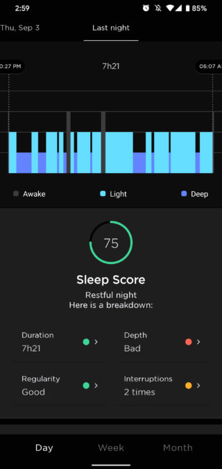 withings scanwatch review health mate app sleep tracking