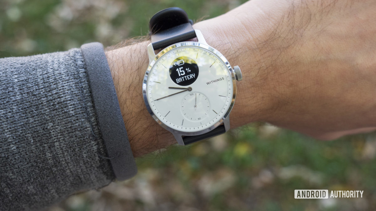 withings scanwatch review battery life