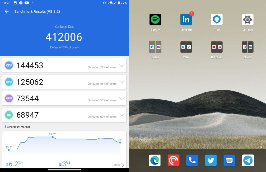 Surface Duo AnTuTu score