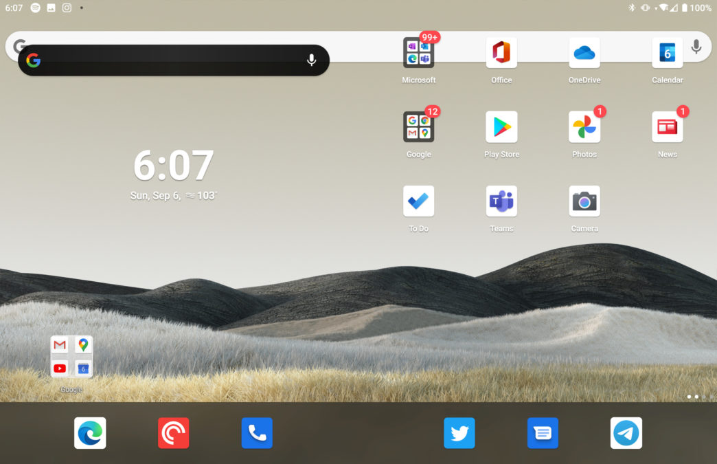 Microsoft Surface Duo bug Nova launcher uninstalled